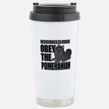 Pomeranian Stainless Steel Travel Mug