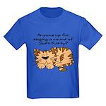Singing a round of Soft Kitty Kids Dark T-Shirt