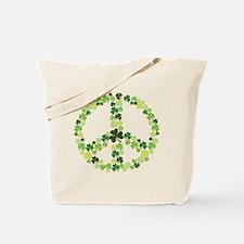 Shamrock Peace Tote Bag