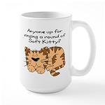 Singing a round of Soft Kitty Large Mug