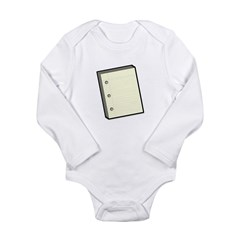 Paper Long Sleeve Infant Bodysuit