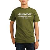 Funny drummer Organic Men's T-Shirt (dark)