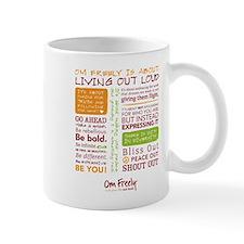 Om Freely Manifesto Mug