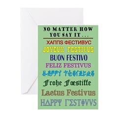 """""""FESTIVUS™ Around the World"""" Cards (Pk o"""