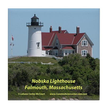 Nobska Lighthouse Tile Coaster