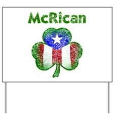 McRican distressed Yard Sign