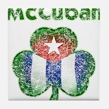 McCuban distressed Tile Coaster