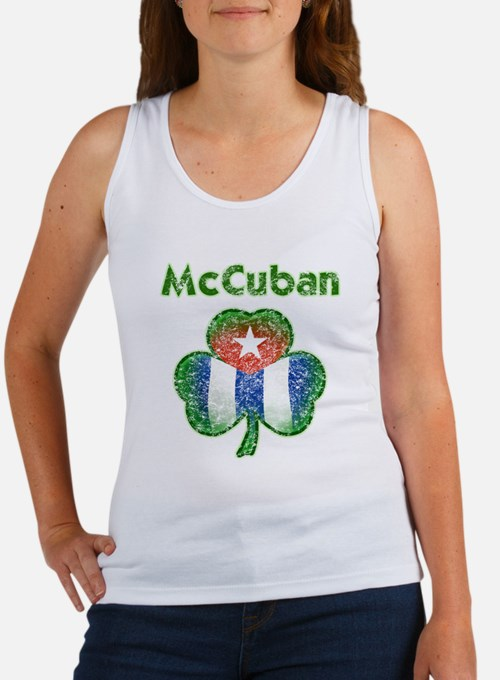 McCuban distressed Women's Tank Top