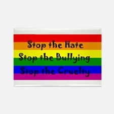 Stop the Hate Rectangle Magnet