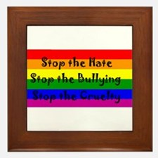 Stop the Hate Framed Tile