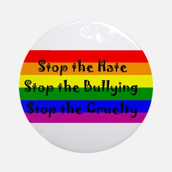 Stop the Hate Ornament (Round)