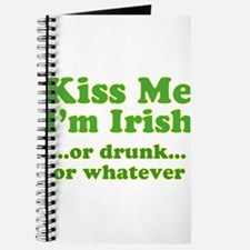 Kiss Me I'm Irish or Drunk or Journal