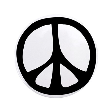"Flowing Peace Sign 3.5"" Button (100 pack)"