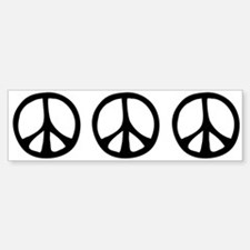 Flowing Peace Sign Bumper Bumper Sticker