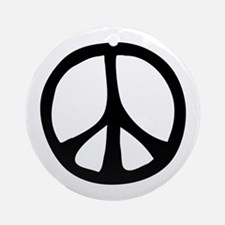 Flowing Peace Sign Ornament (Round)