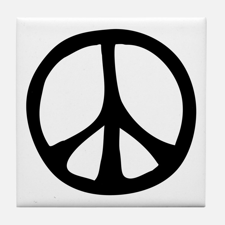 Flowing Peace Sign Tile Coaster