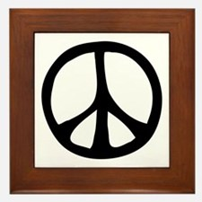 Flowing Peace Sign Framed Tile