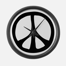 Flowing Peace Sign Large Wall Clock