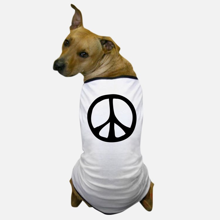 Flowing Peace Sign Dog T-Shirt