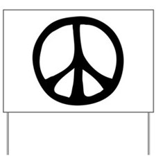 Flowing Peace Sign Yard Sign