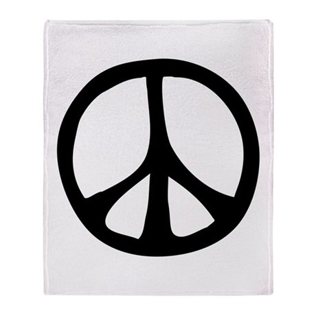 Flowing Peace Sign Throw Blanket