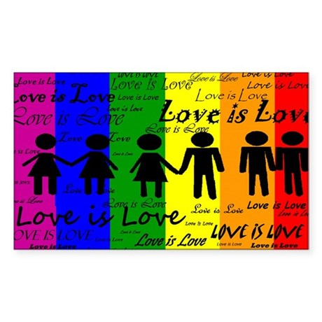 Love is Love Sticker (Rectangle)