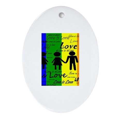 Love is Love Ornament (Oval)