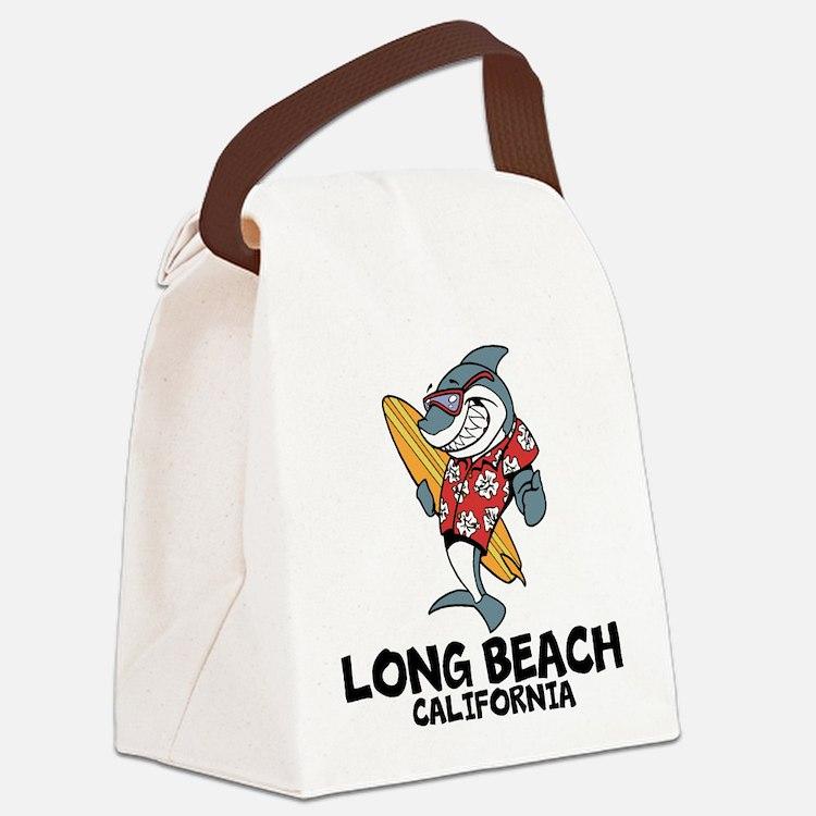 Long Beach, California Canvas Lunch Bag