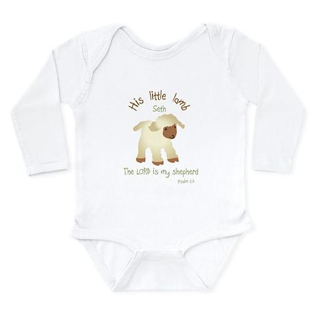 His Little Lamb Seth Long Sleeve Infant Bodysuit