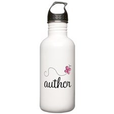 Cute Author Water Bottle