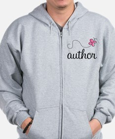 Cute Author Zip Hoodie
