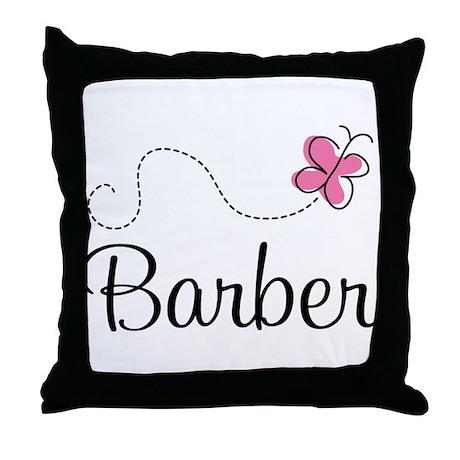 Cute Barber Throw Pillow