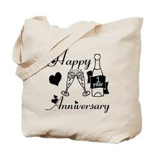 Funny 1 year anniversary Tote Bag
