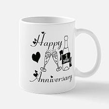 Anniversary black and white 1 copy Mugs