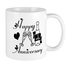 Anniversary black and white 1 copy Mugs