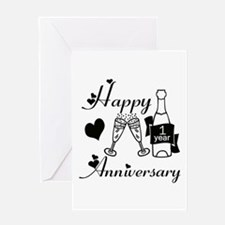 Cute 1 year anniversary Greeting Card