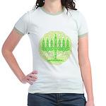 Celtic Menorah Jr. Ringer T-Shirt