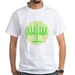 Celtic Menorah White T-Shirt