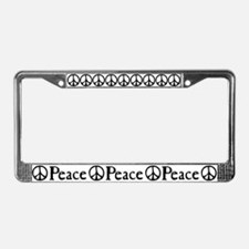 Flowing 'Peace' Sign License Plate Frame
