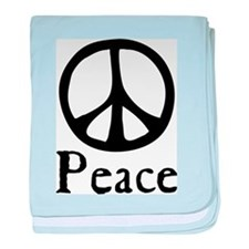 Flowing 'Peace' Sign Infant Blanket