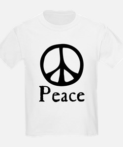 Flowing 'Peace' Sign T-Shirt