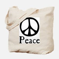 Flowing 'Peace' Sign Tote Bag