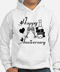Unique 2nd wedding anniversary Hoodie