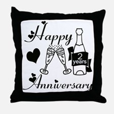 Cute 2nd wedding anniversary Throw Pillow