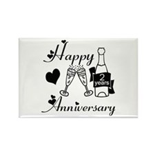 Anniversary black and white 2 Magnets
