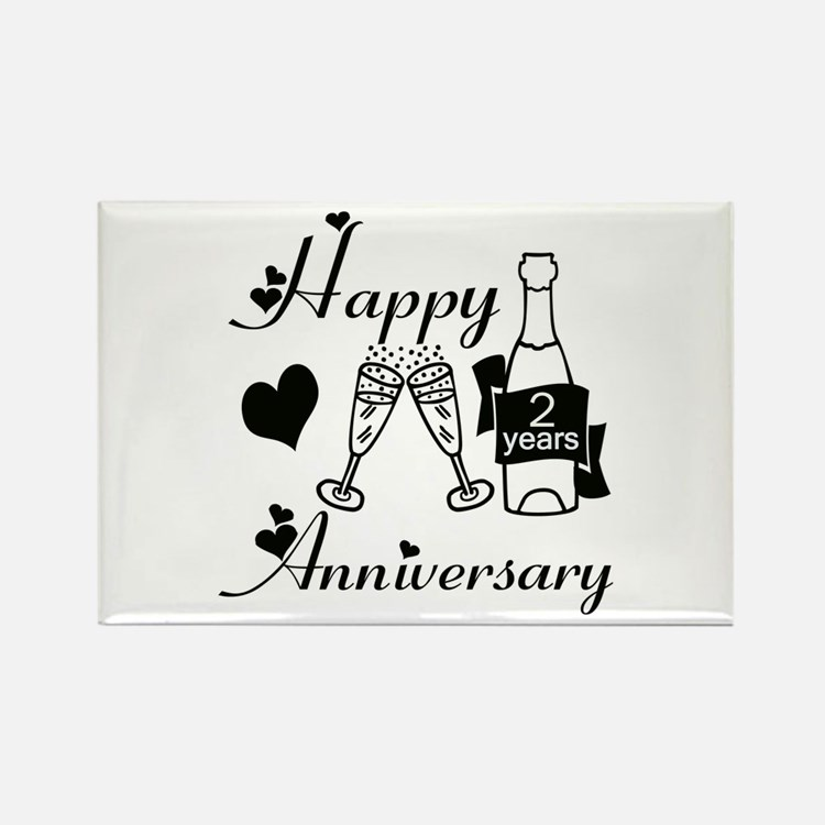 Second Wedding Anniversary Magnets