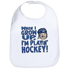Grow Up Hockey Blue Bib