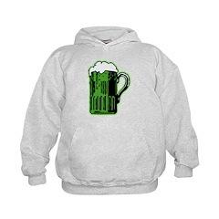 Green Beer Mug Kids Hoodie