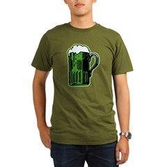 Green Beer Mug Organic Men's T-Shirt (dark)
