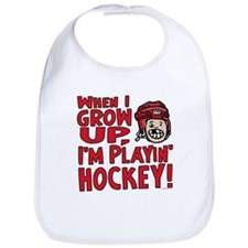 Grow Up Hockey Red Bib